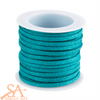 Faux Suede Cord 3x1.5mm 5m/Roll Teal