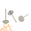 304 Stainless Steel Earstuds 5mm flat pad 7.5g/Approx. 100 pieces