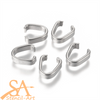 304 Stainless Steel Snap-on Bails 9x8x3mm 100pcs