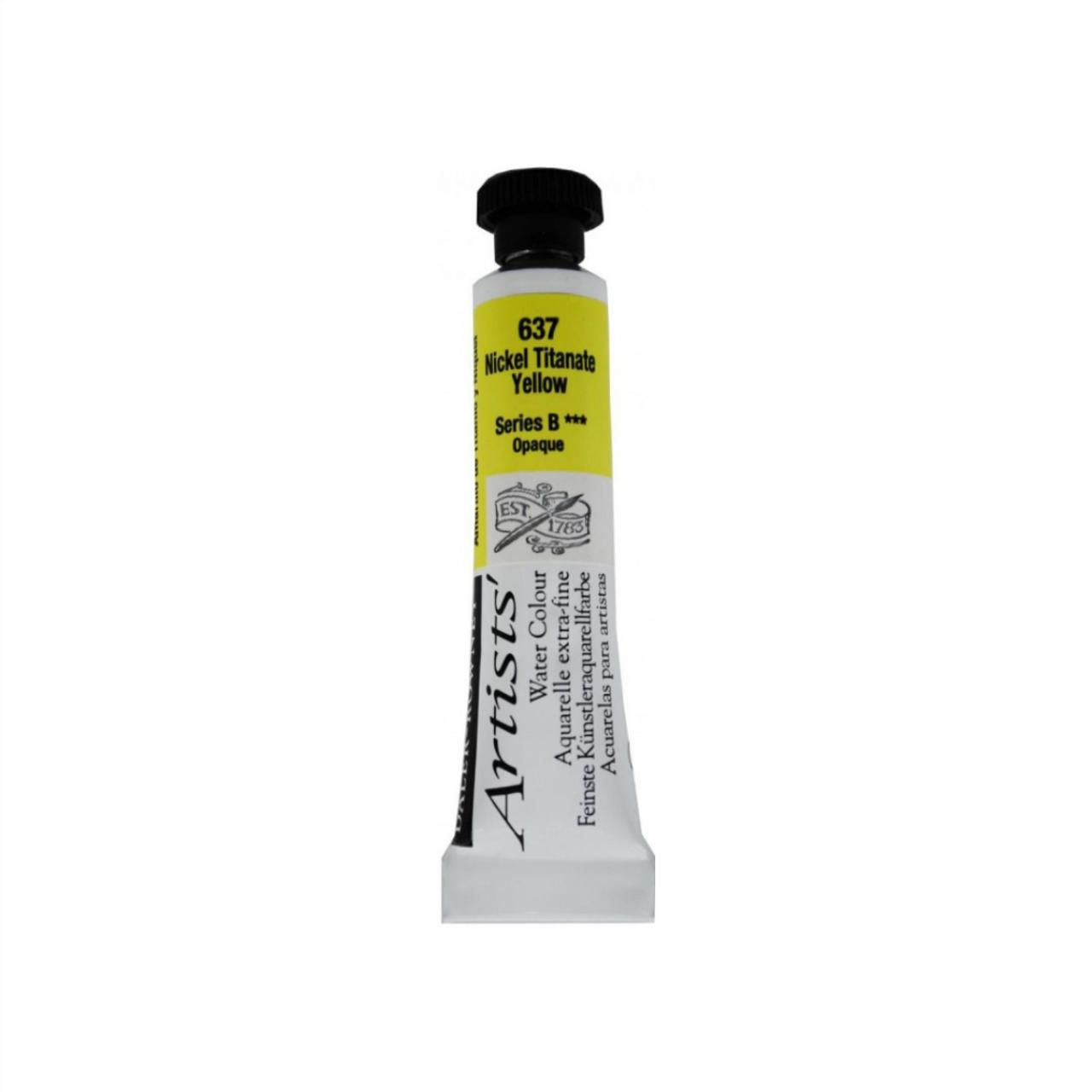 Daler-Rowney Artists' Watercolour Tube 15ml - Nickel Titanite Yellow #637