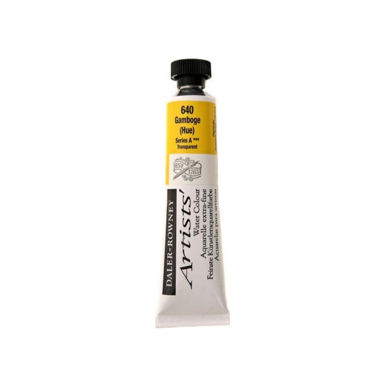 Daler-Rowney Artists' Watercolour Tube 15ml - Gamboge Hue #640