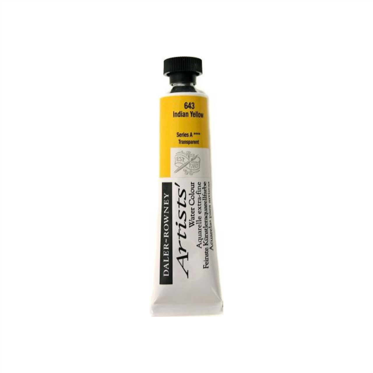 Daler-Rowney Artists' Watercolour Tube 15ml - Indian Yellow #643