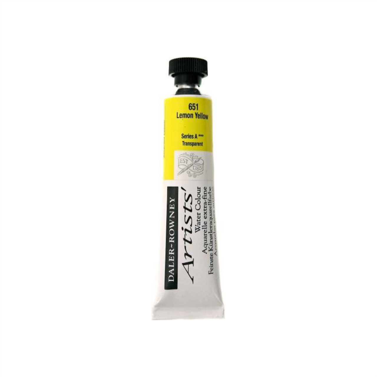 Daler-Rowney Artists' Watercolour Tube 15ml - Lemon Yellow #651