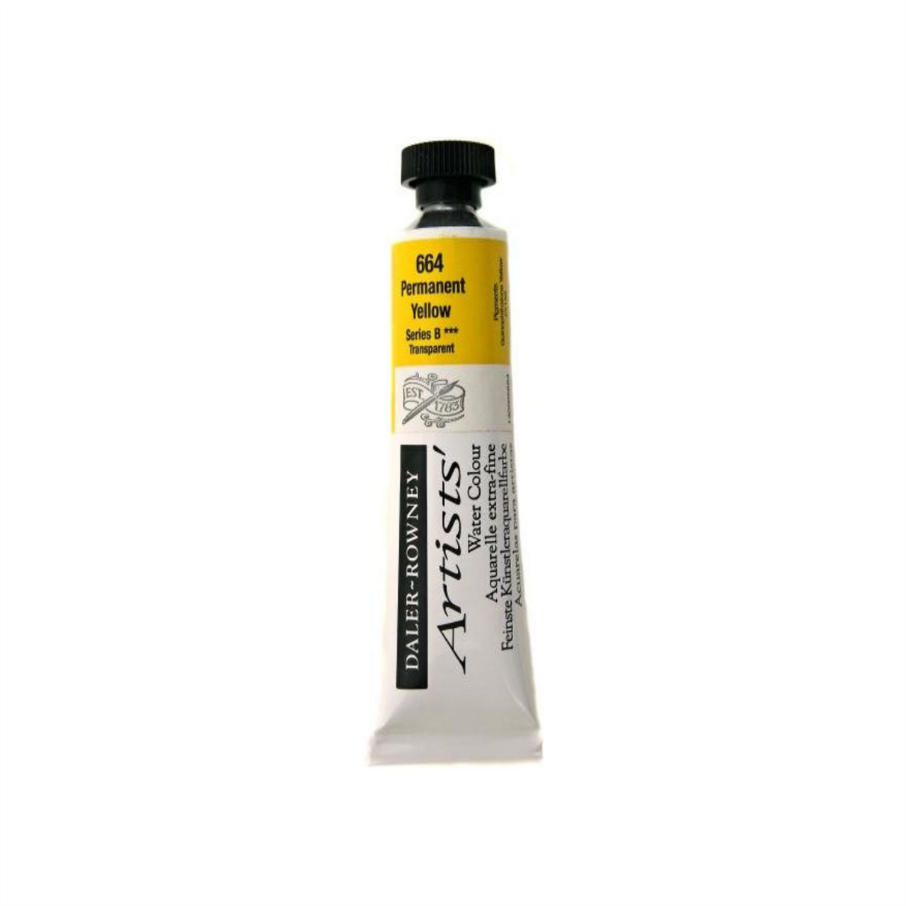Daler-Rowney Artists' Watercolour Tube 15ml - Permanent Yellow #664