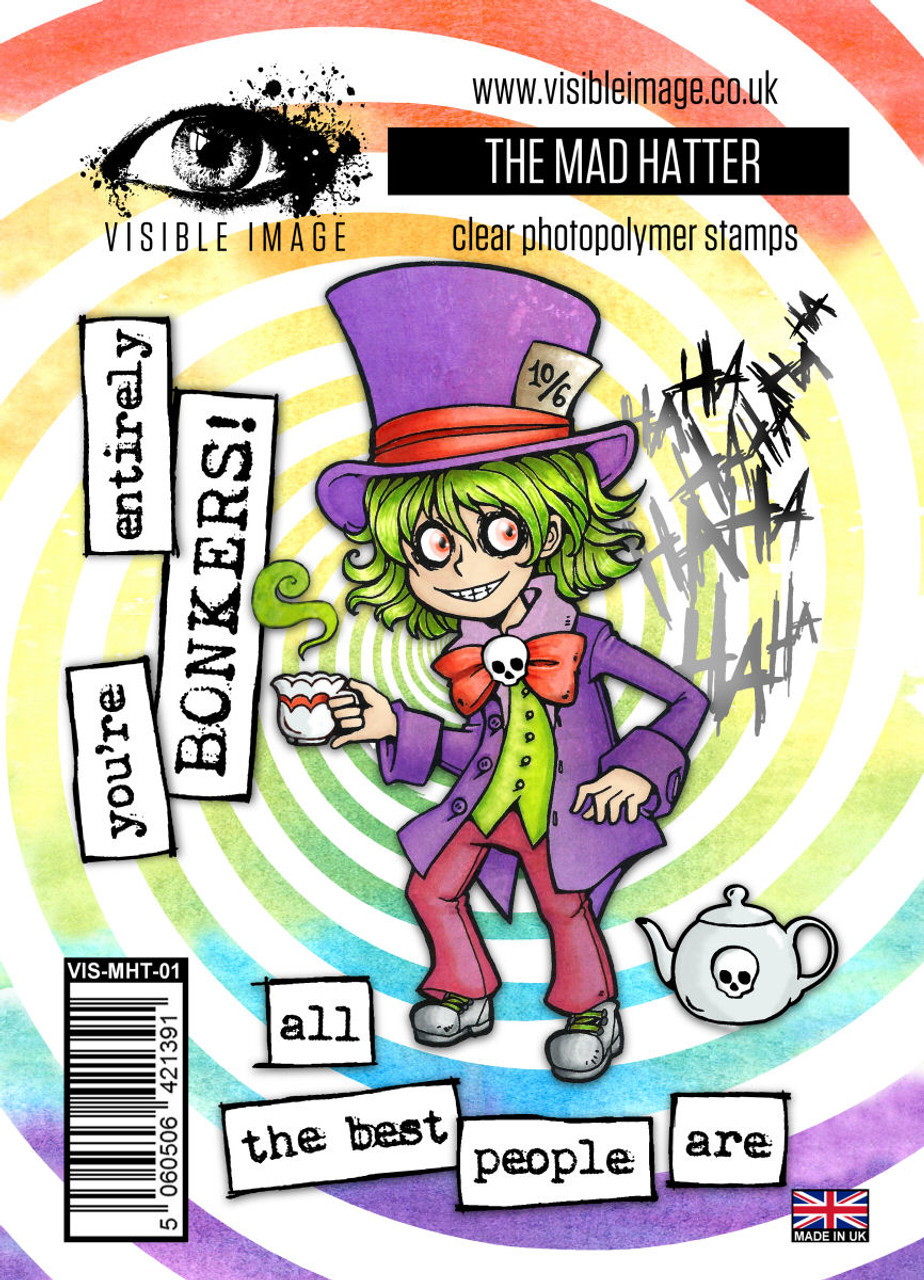 Visible Image Stamps – The Mad Hatter 160x115mm