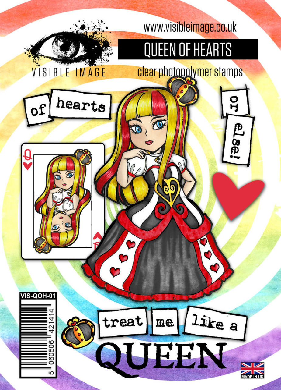 Visible Image Stamps – Queen of Hearts 160x115mm
