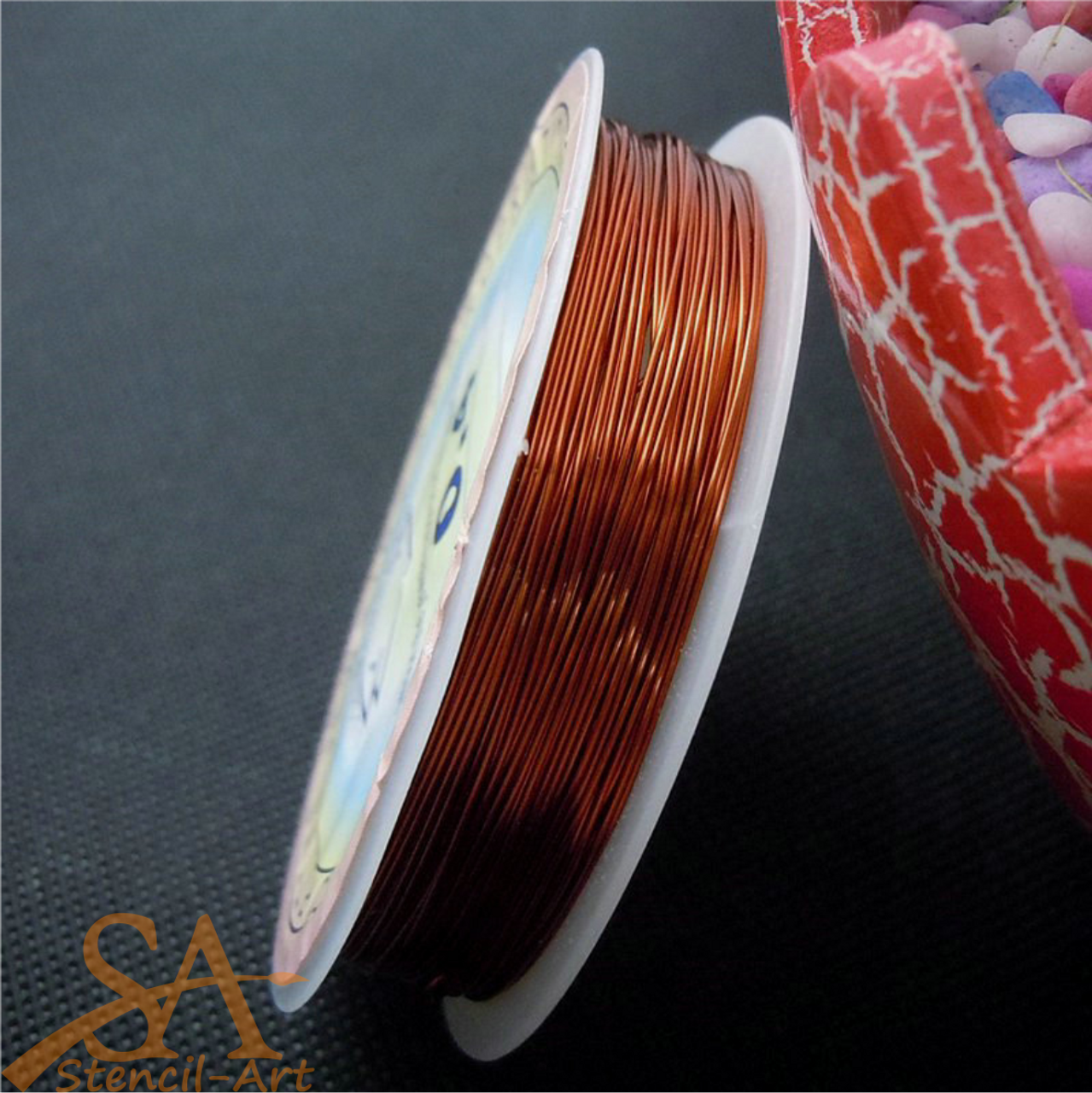 Jewellery Wire 0.4mm 12m - Orange