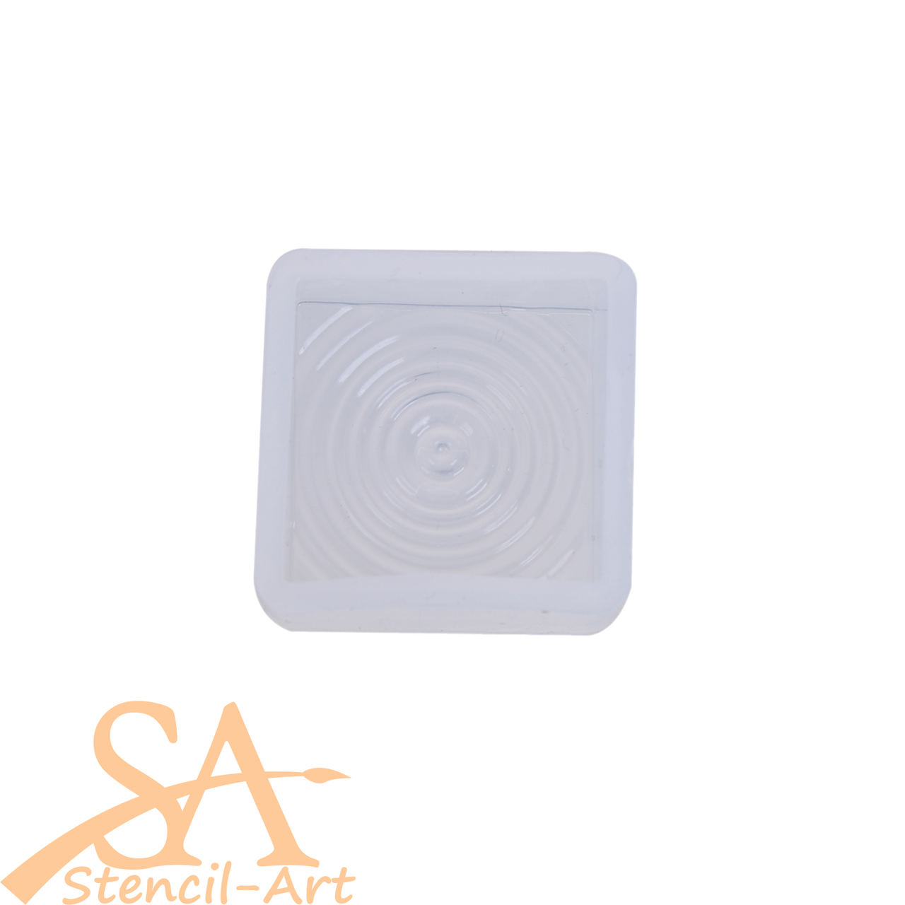 Silicone Resin Mould –  Pendant Ripple Effect Square 25x25x10mm