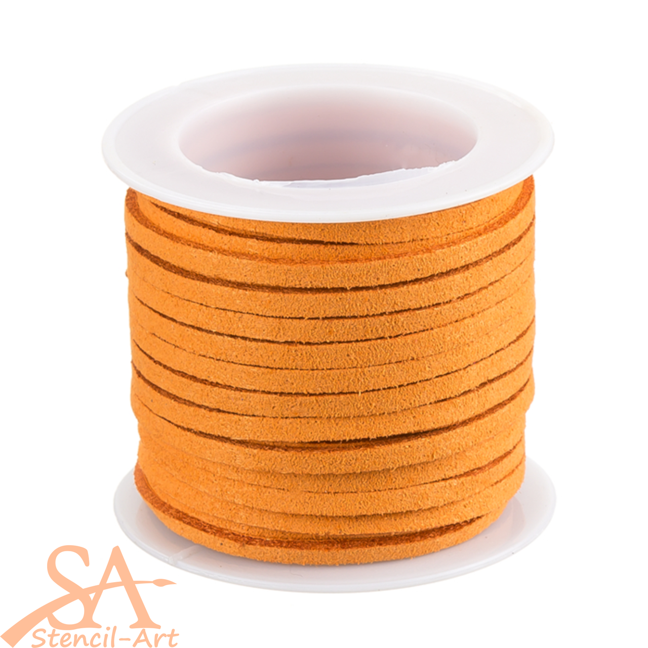 Faux Suede Cord 3x1.5mm 5m/Roll Orange