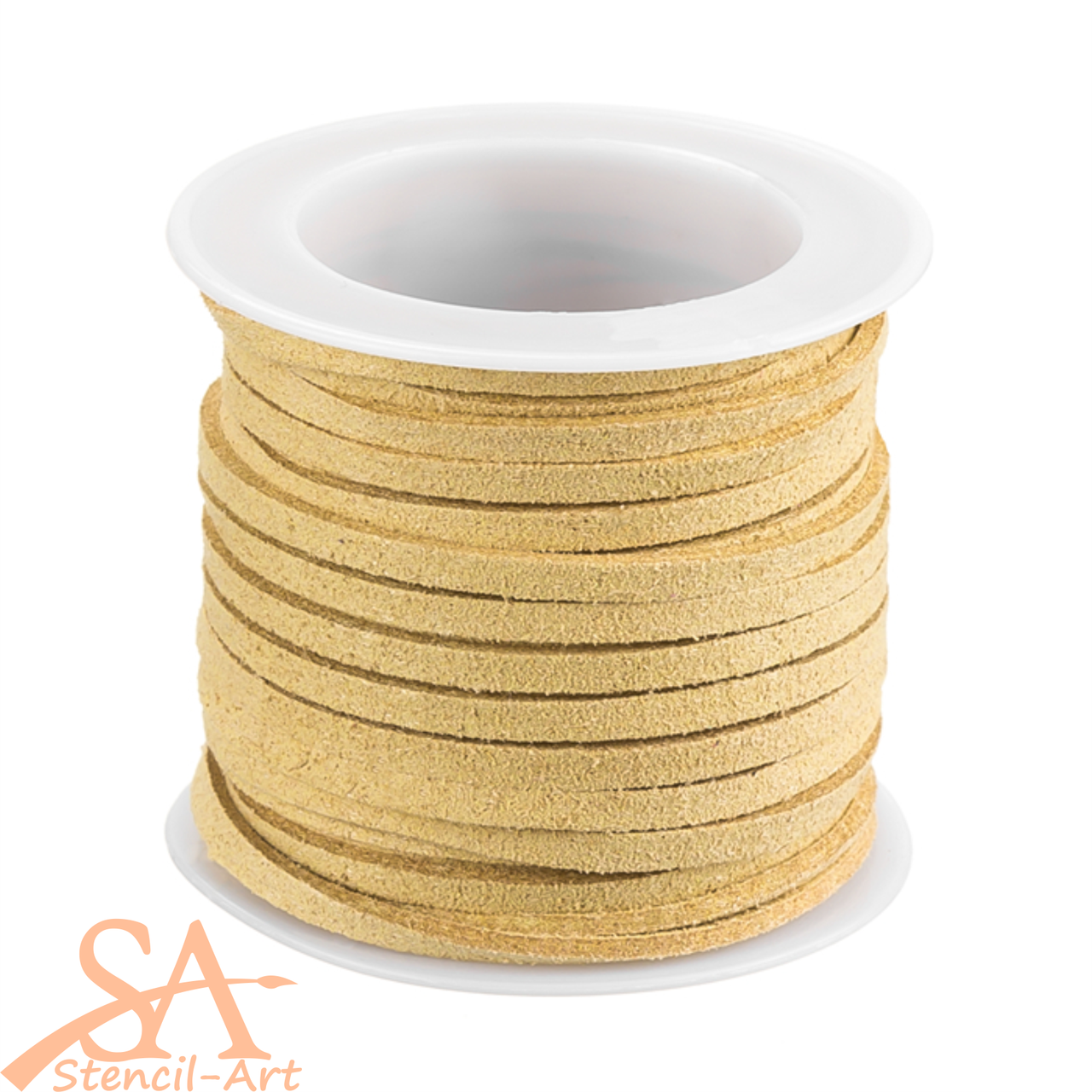 Faux Suede Cord 3x1.5mm 5m/Roll Oatmeal