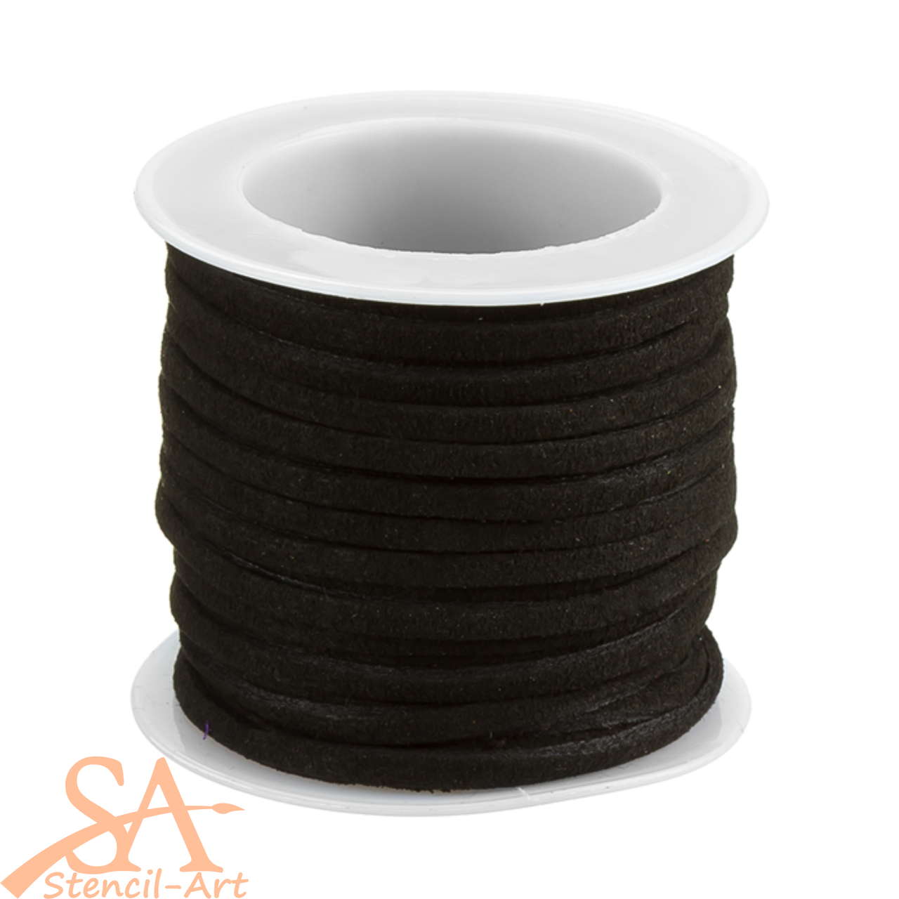 Faux Suede Cord 3x1.5mm 5m/Roll Black