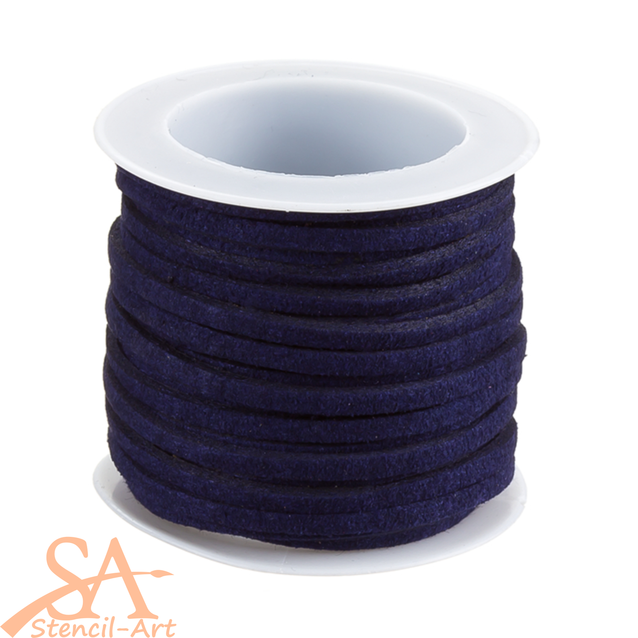 Faux Suede Cord 3x1.5mm 5m/Roll Navy Blue