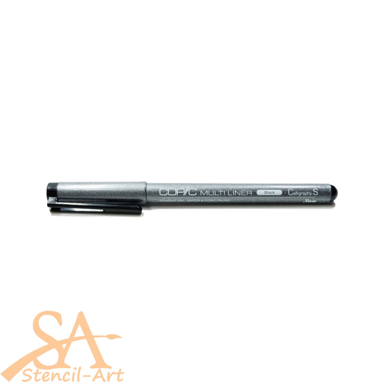 Copic Multiliner Pen Small Calligraphy (CS) Black