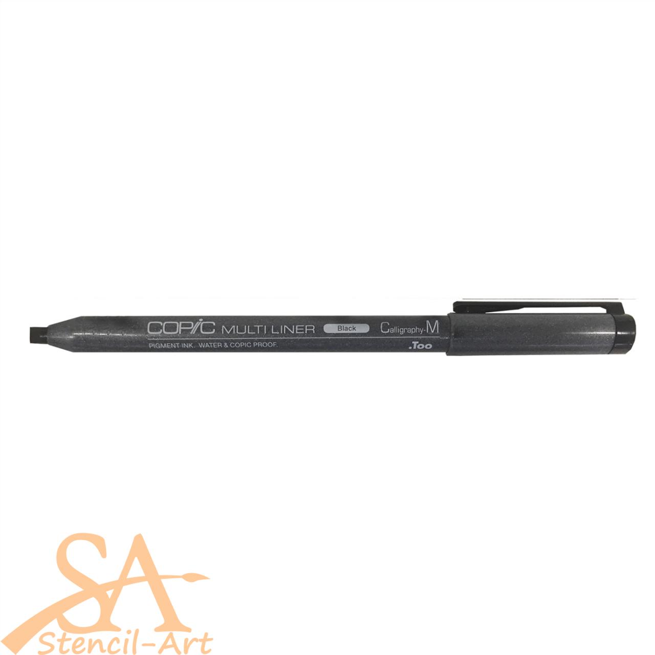 Copic Multiliner Pen Medium Calligraphy (CM) Black