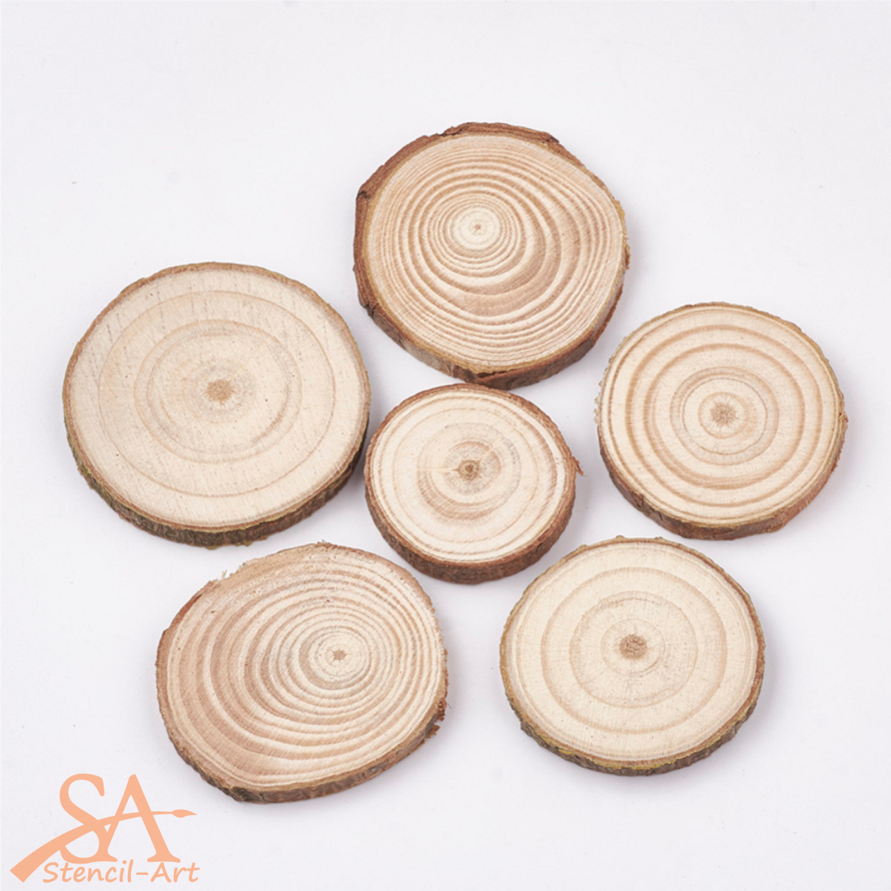 Wooden Tree Rings 28-42mm 10 pcs