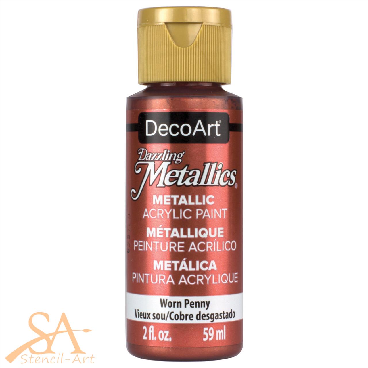 DecoArt Dazzling Metallics Acrylic Paint 59ml - Worn Penny