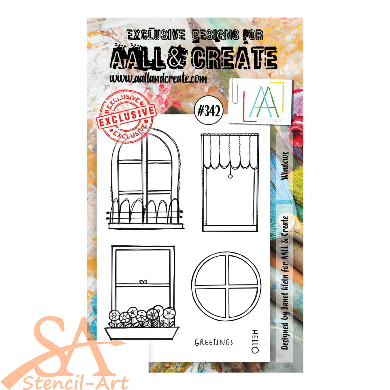 AALL & Create A6 Clear Stamp Set WINDOWS #342