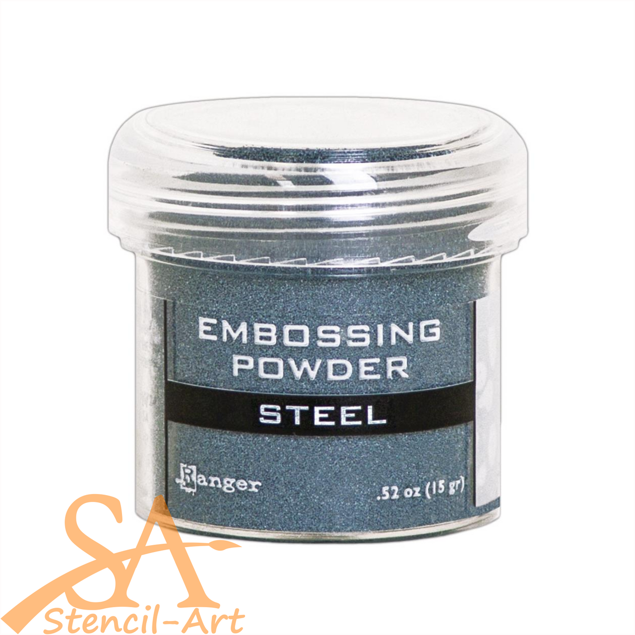 Ranger Embossing Powder 18g Jar STEEL #EPJ66873