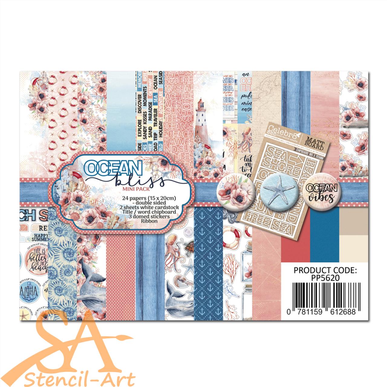 Celebr8 Mini Collection Pack 150 x 200 mm OCEAN BLISS #PP5620