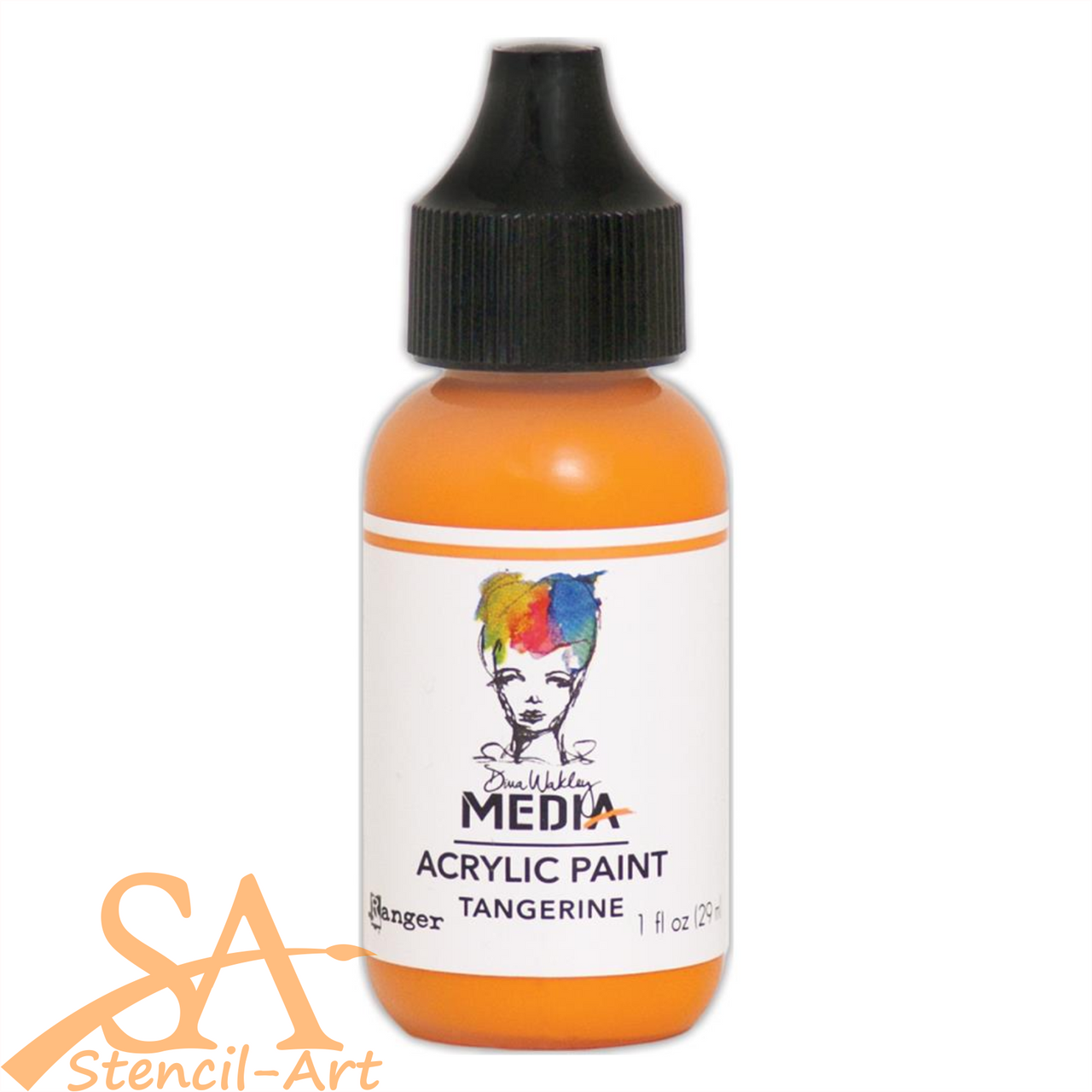 Dina Wakley Media Heavy Body 29ml Acrylic Paint TANGERINE #MDQ54092