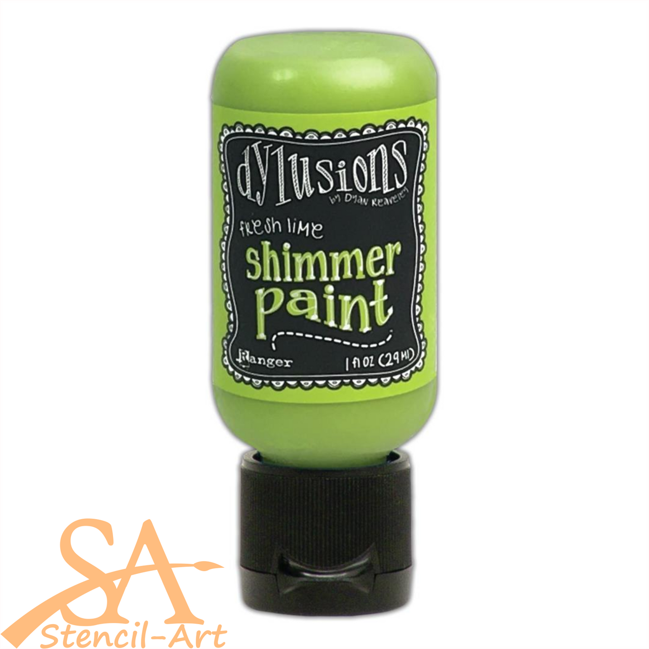 Dyan Reaveley's Dylusions Shimmer Paint 29ml FRESH LIME #DYU74410