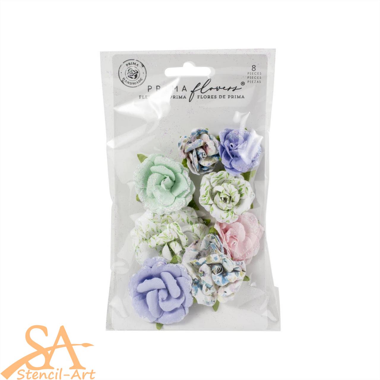 "Prima Marketing Flowers WATERCOLOR FLORAL ""Rose Gouache"" #653088"