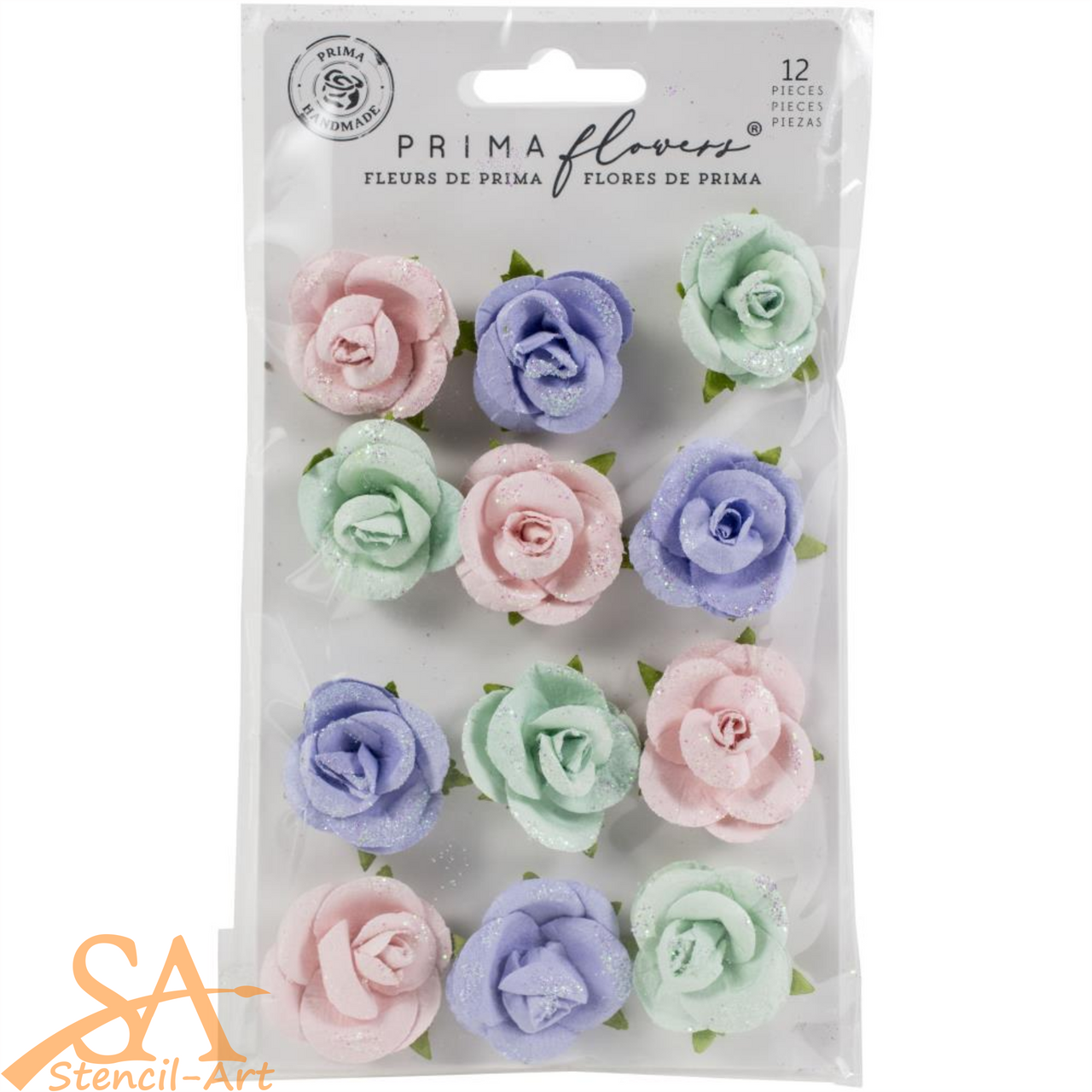 "Prima Marketing Flowers WATERCOLOR FLORAL ""Watercolor Sweet"" #653156"
