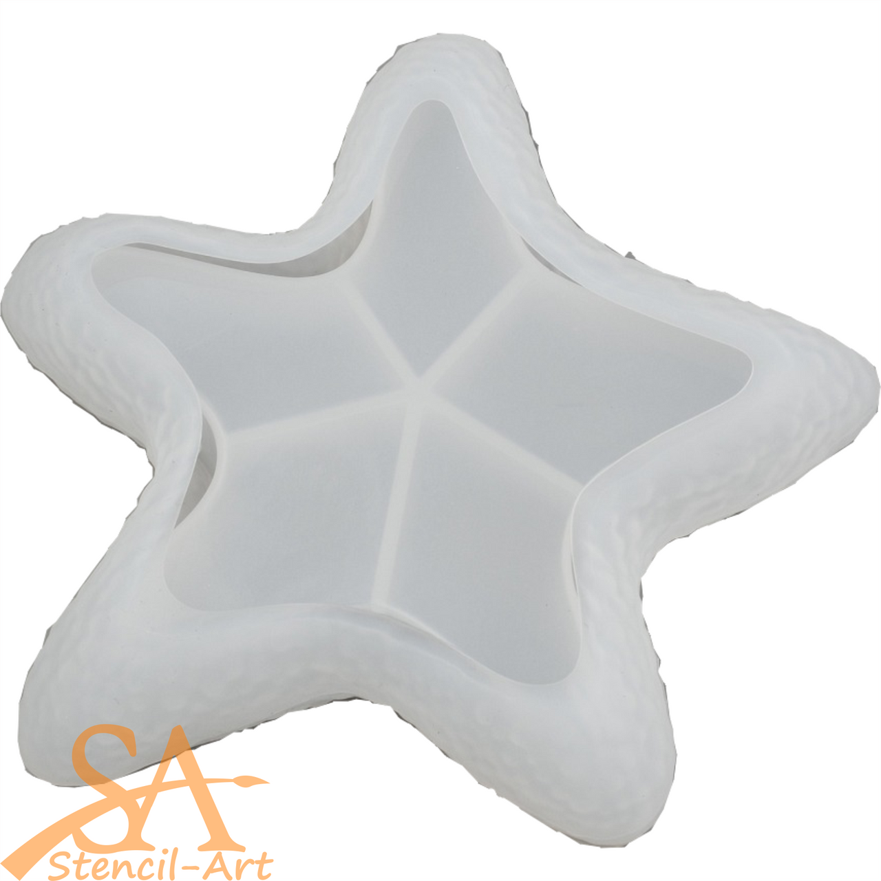 Silicone Resin Mould Bowl Starfish Shaped 132x134x27mm