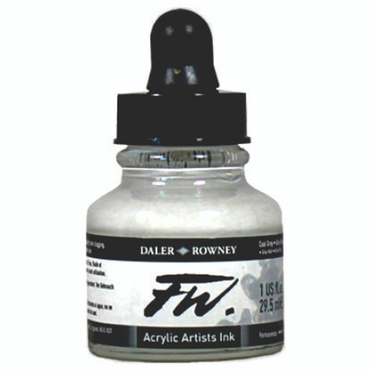 FW Acrylic Artists' Ink 29.5ml - Silver IMIT #702