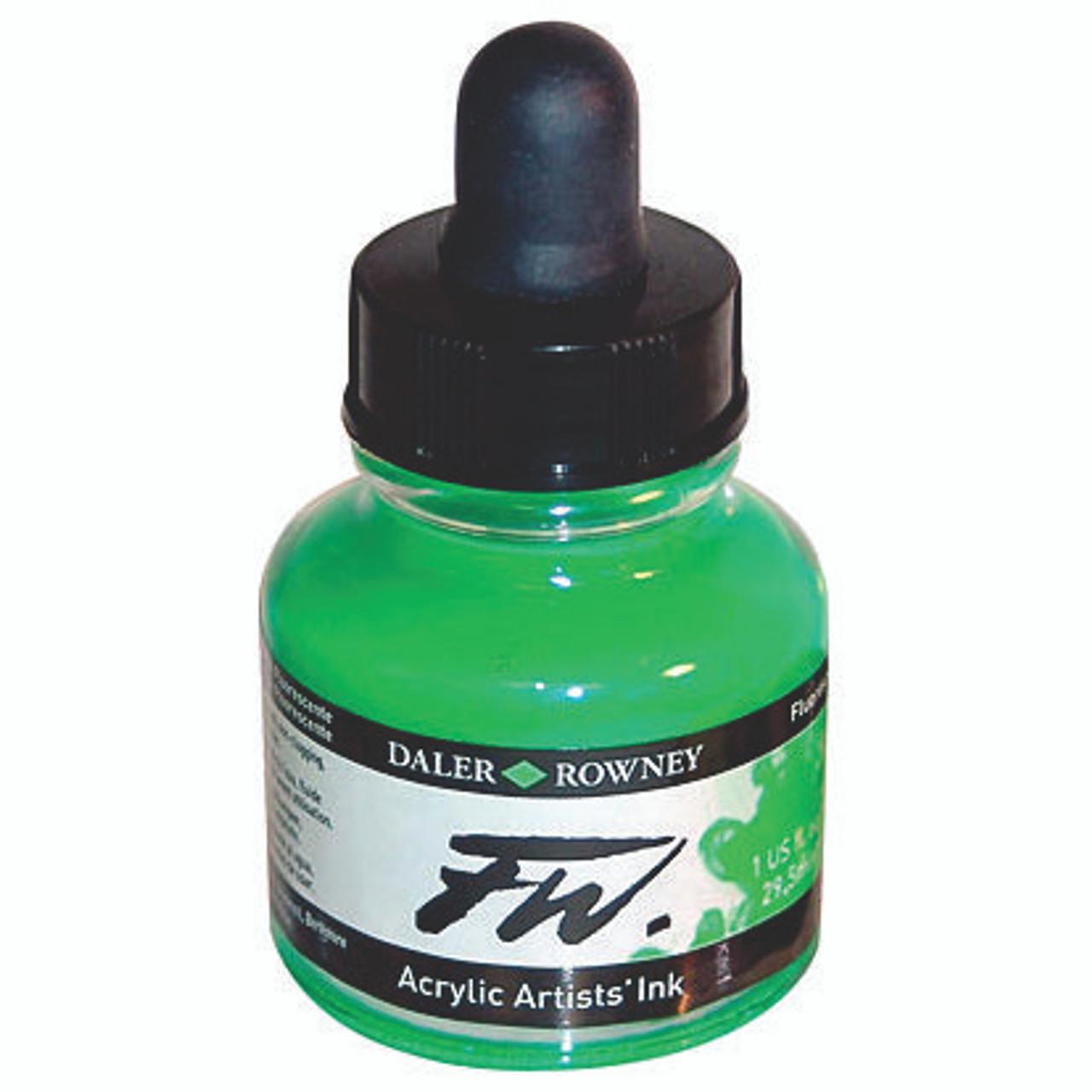 FW Acrylic Artists' Ink 29.5ml – Fluorescent Green #349