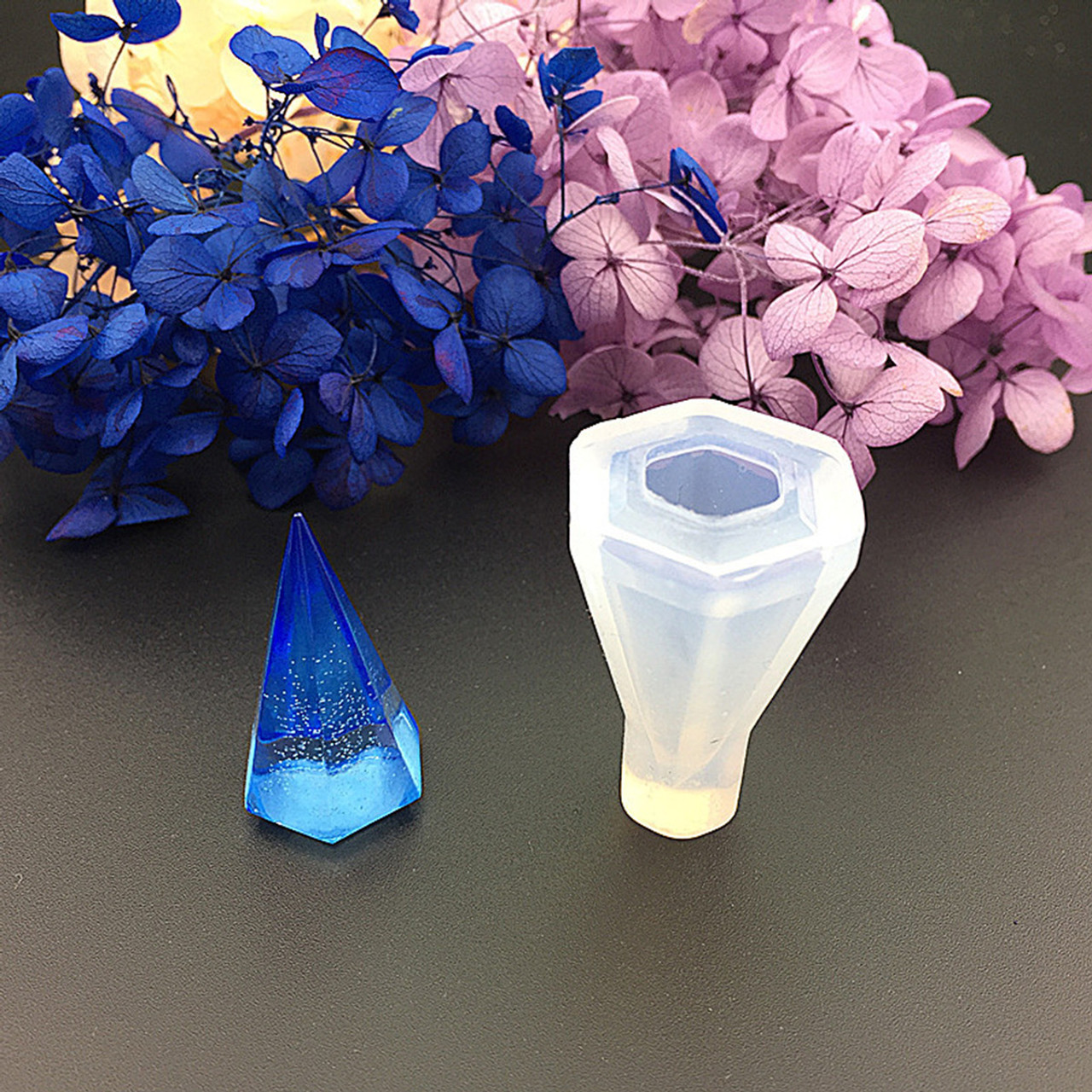 Silicone Resin Mould –  Cone Shaped Pendant 39x25x23mm
