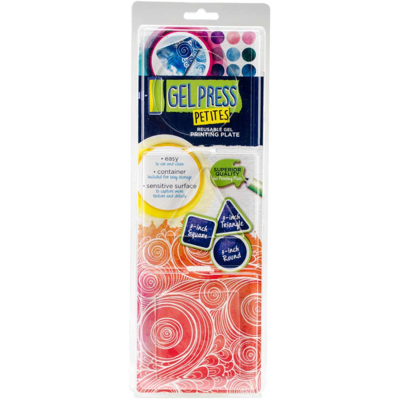 Gel Press Gel Petites 3/Pkg - Square, Triangle, Circle