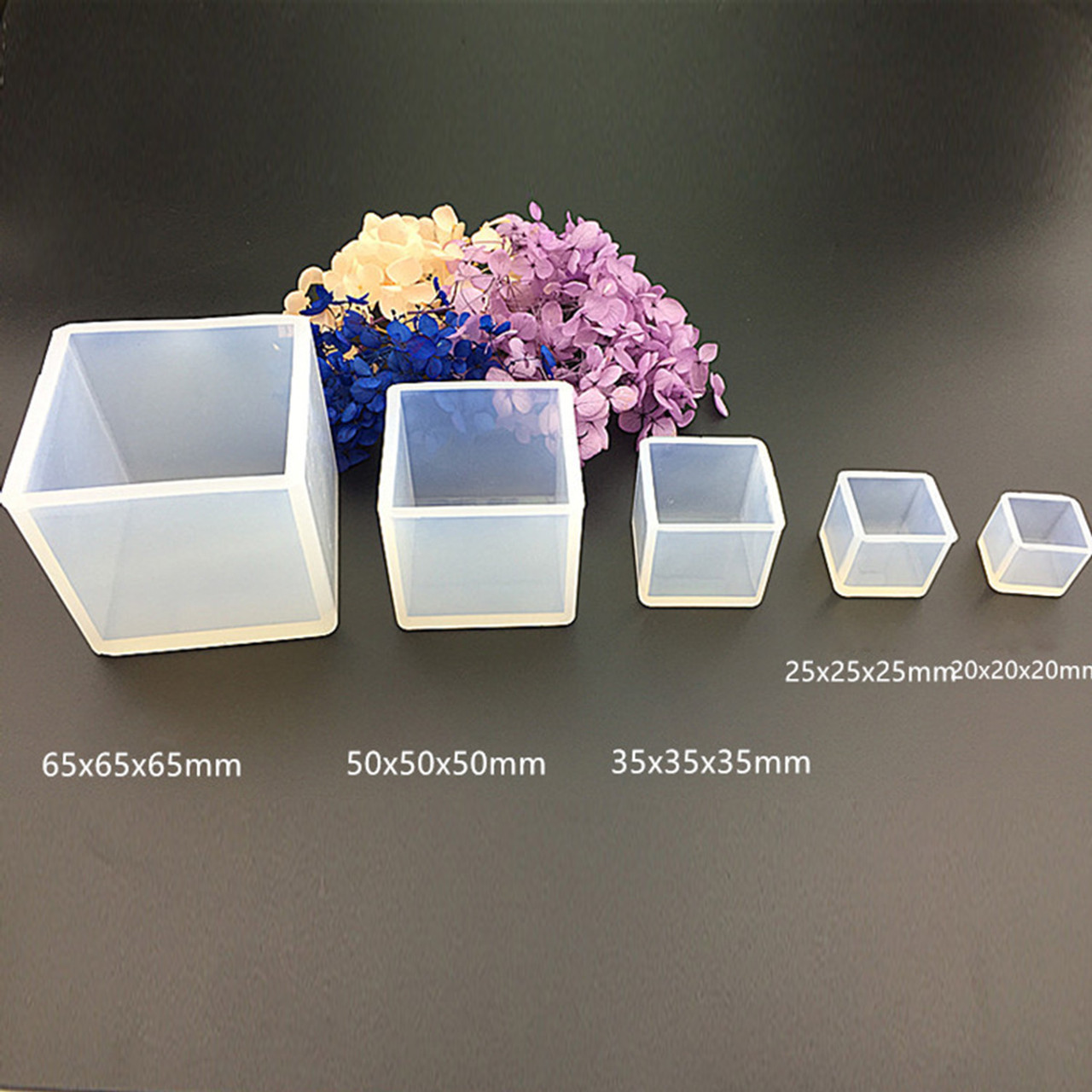Silicone Resin Mould – Cube 35x35x35mm