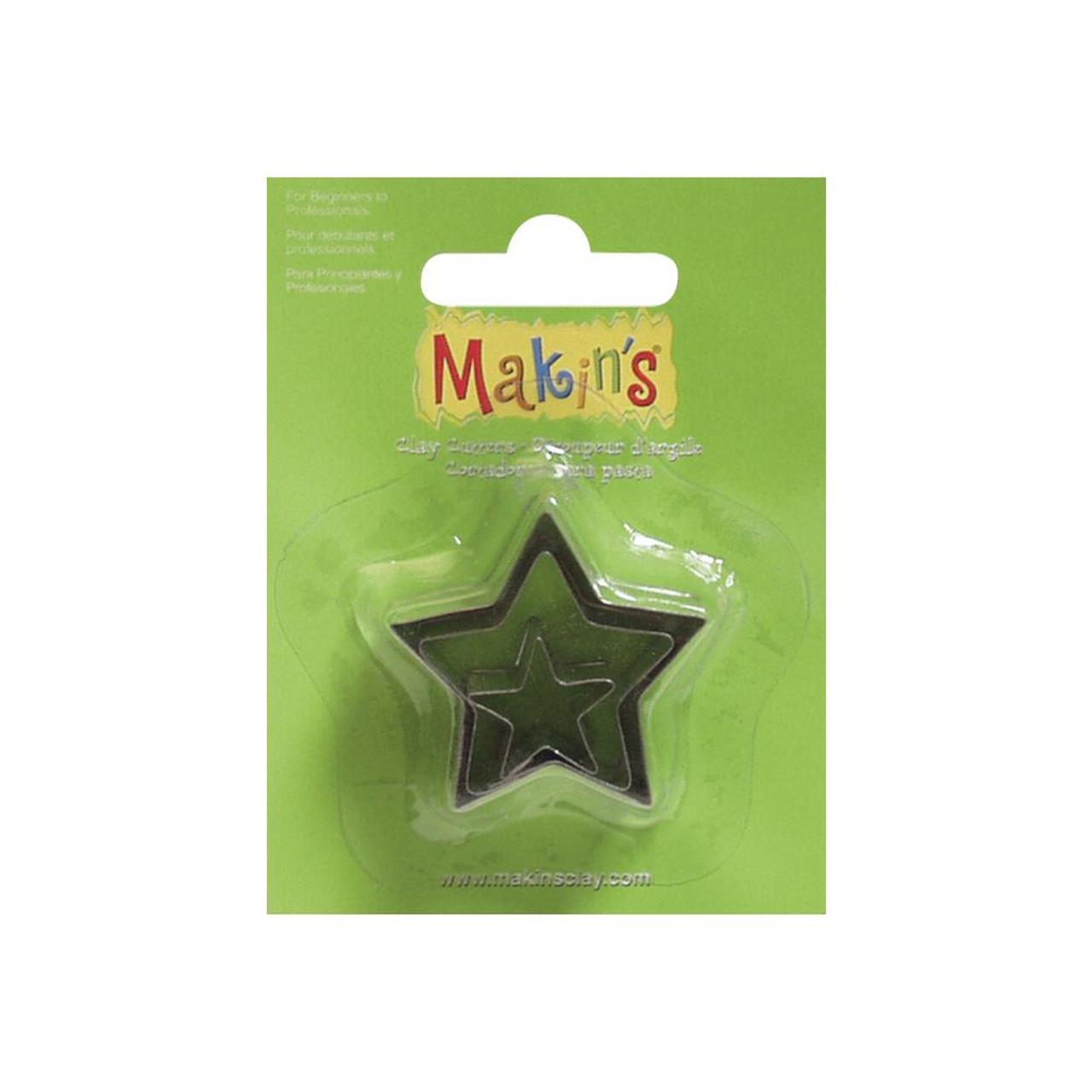 Makin's Clay Cutters 3/Pkg – Stars #36006
