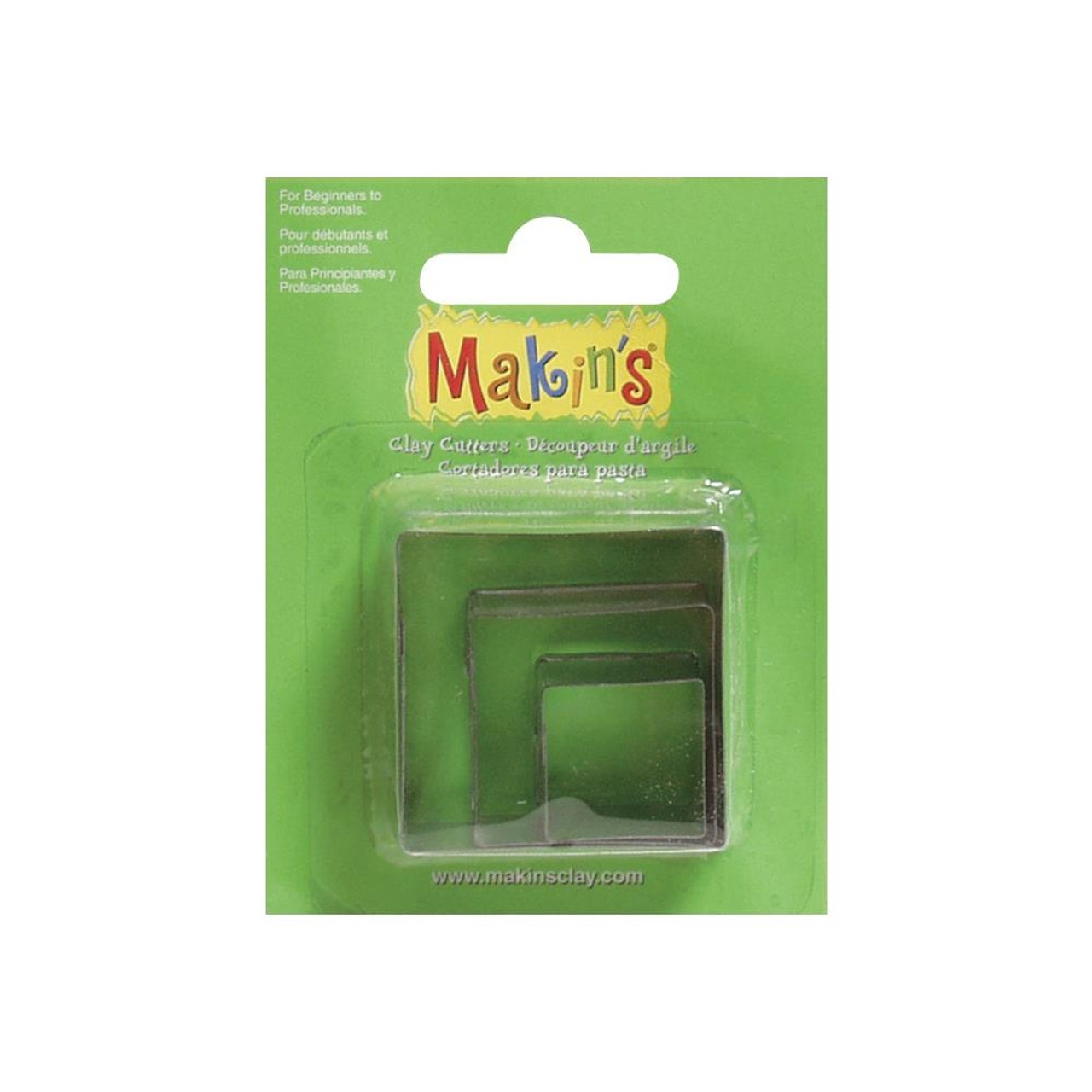 Makin's Clay Cutters 3/Pkg – Squares #36002