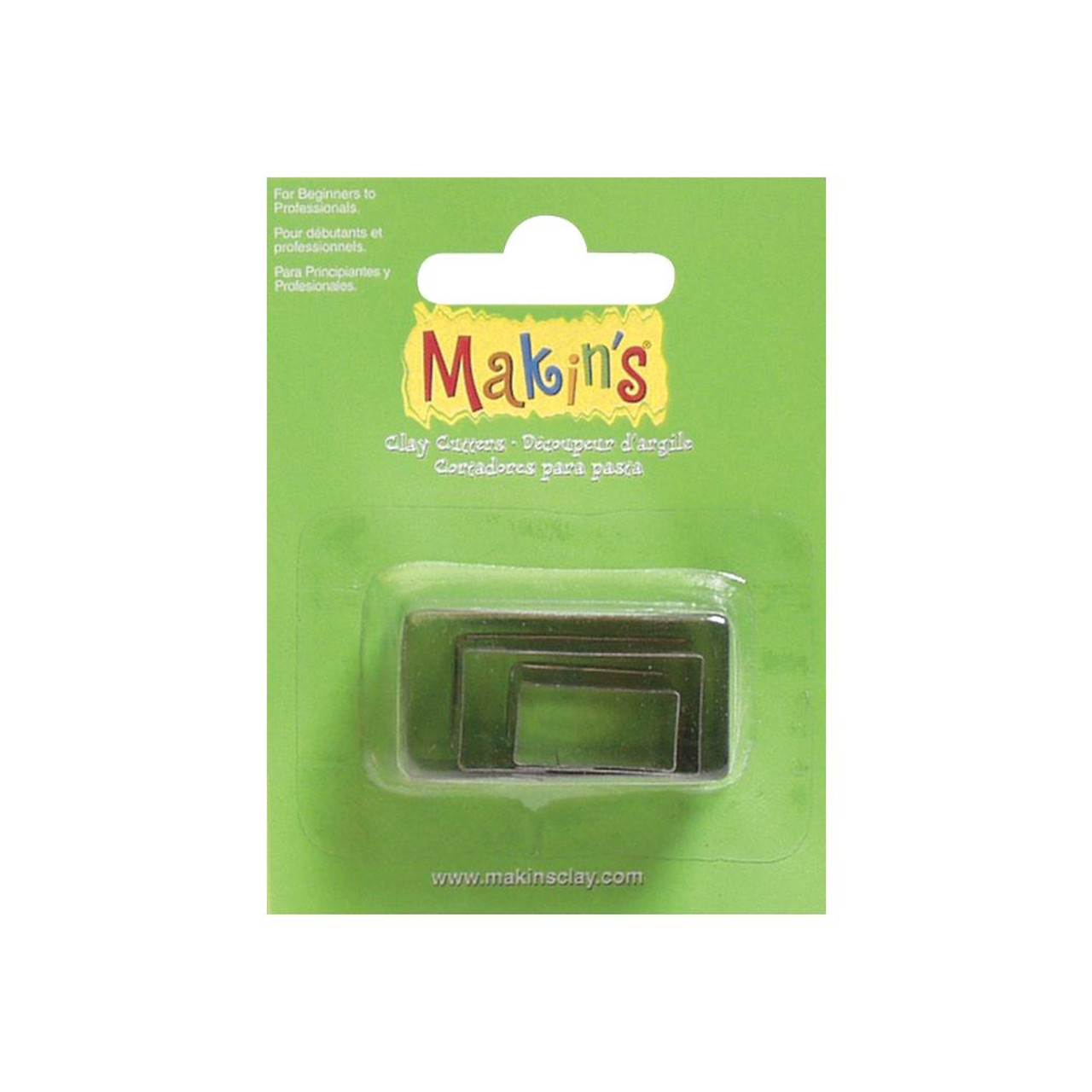 Makin's Clay Cutters 3/Pkg – Rectangles #36004