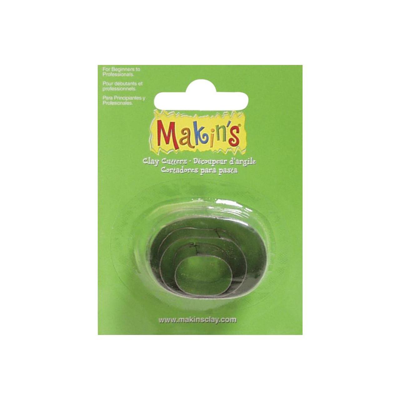 Makin's Clay Cutters 3/Pkg – Ovals #36005