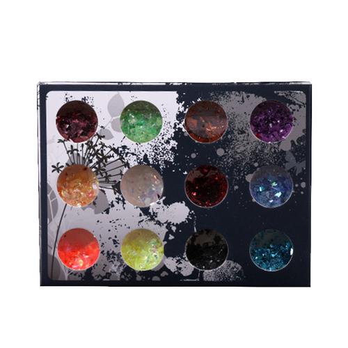 Glitter Flakes Mixed Colours 12/pkg