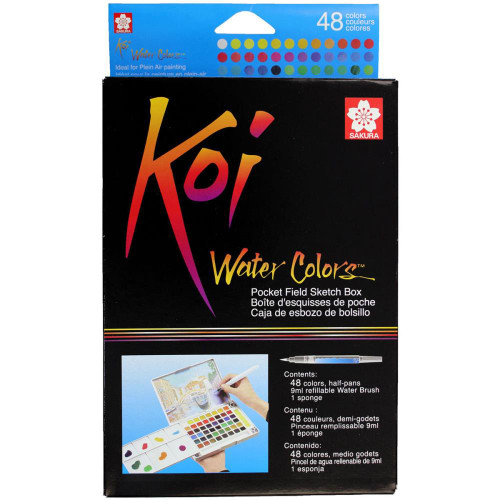 Sakura Koi Water Colours Pocket Field Sketch Box 48