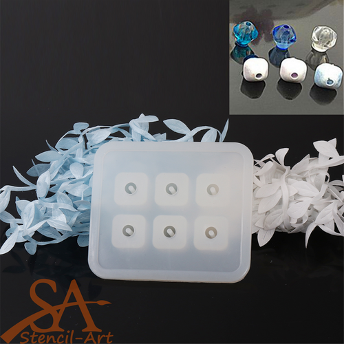 Silicone Resin Mould – Rhombus Beads 16x12x12mm