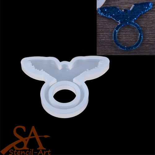 Silicone Resin Mould – Finger Ring Wing 30x40x4mm Inner: 12mm