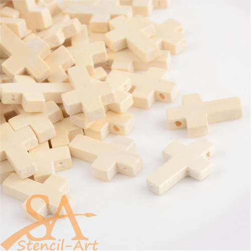 Wooden Pendants Crosses 22x15.5mm 50pcs