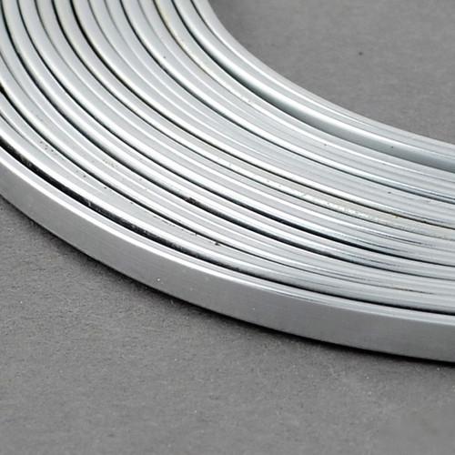 Aluminium Wire Flat 5x1mm x 10m Silver