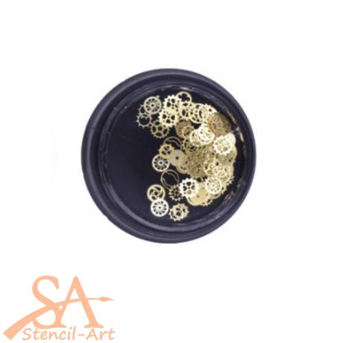 Mini Metal Inclusions - Gears (Golden)