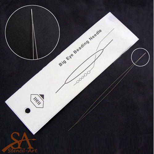 Stainless Steel Beading Needle Big Eye 57x0,3mm
