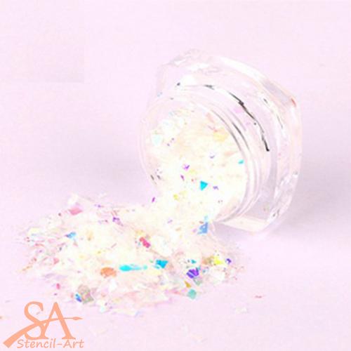 Glitter Flakes  5ml - Candy White
