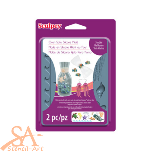 Sculpey Silicone Bakeable Mold - Sea Life #APM61