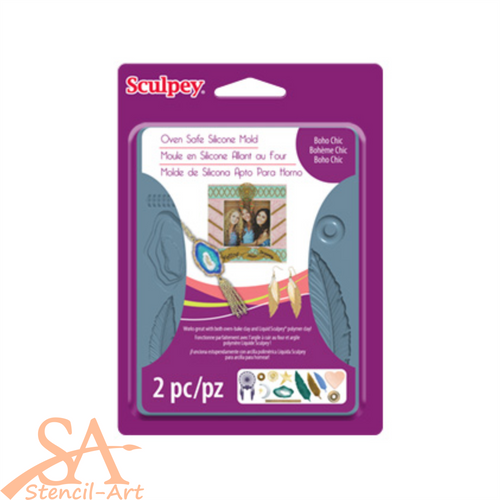 Sculpey Silicone Bakeable Mold - Boho Chic #APM63