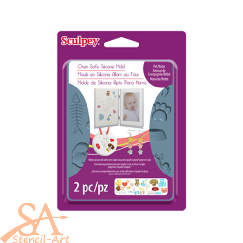 Sculpey Silicone Bakeable Mold - Pet & Baby #APM65