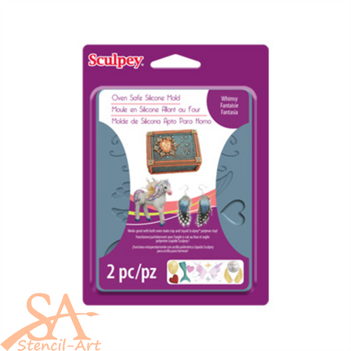 Sculpey Silicone Bakeable Mold - Whimsy #APM66